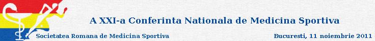 Conferinta Nationala de Medicina Sportiva 2011