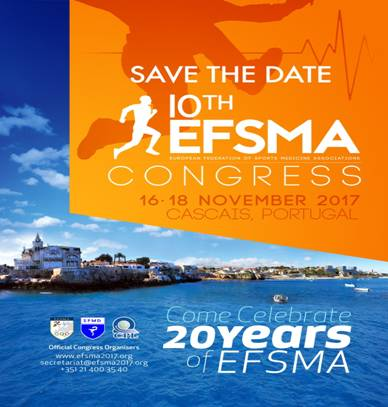 The 10th European Sport Medicine - Congress of EFSMA - European Federation of Sports Medicine Associations