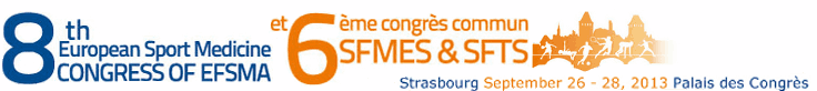 8th European Congress of Sports Medicine and 6th Common Congress of the French Society of Sports Medicine and French Society of Traumatology