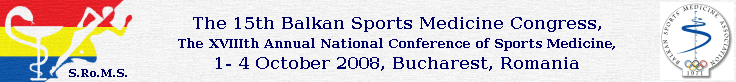 The 15th Balkan Sports Medicine Congress